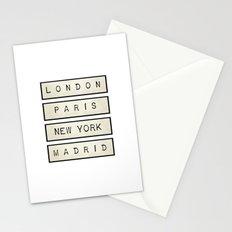 London | Paris | New York | Madrid Stationery Cards