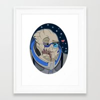 garrus Framed Art Prints featuring Garrus Vakarian by ArtisticCole