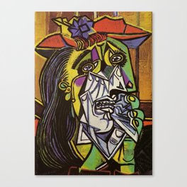 THE WEEPING WOMAN - PICASSO Canvas Print