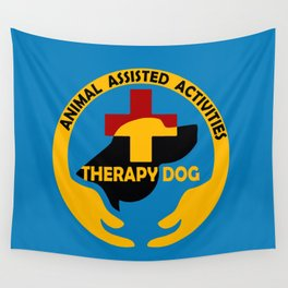Animal Assisted Activities  - THERAPY DOG logo Wall Tapestry