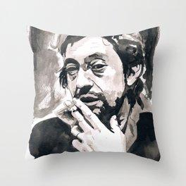 Serge Gainsbourg Throw Pillow