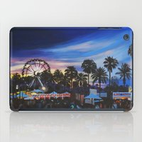 coachella iPad Cases featuring Coachella Sunset by Paula Savage