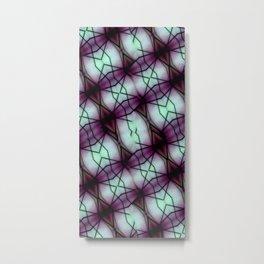Futuristic Space Geometric Pattern Metal Print