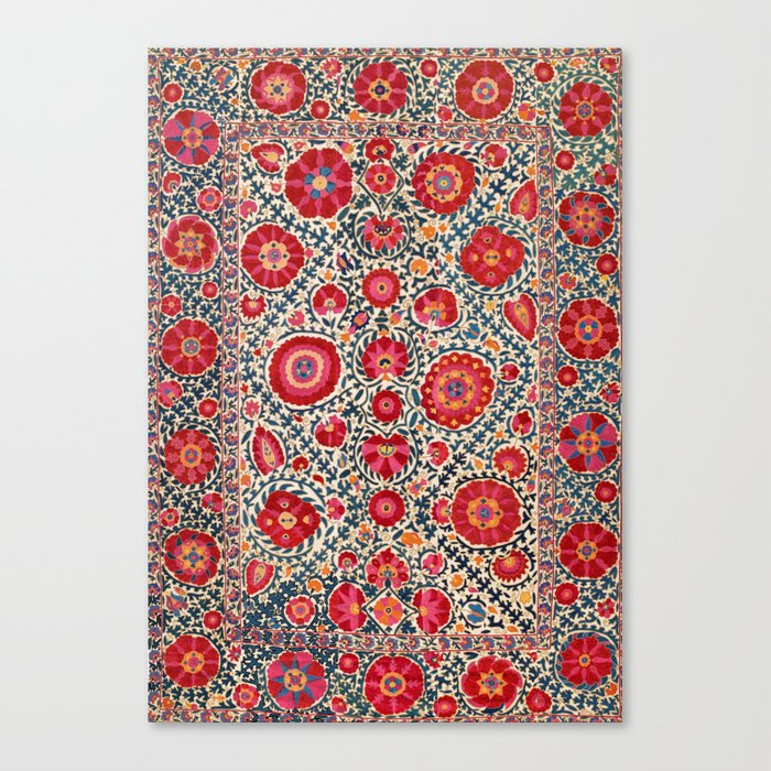 Kermina Suzani Uzbekistan Embroidery Print Leinwanddruck