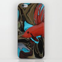 band iPhone & iPod Skins featuring Betta's Band by Distortion Art