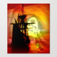pirate ship Canvas Prints featuring Pirate Ship by elkart51