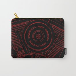 cycle motor, red on black Carry-All Pouch