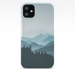 Teal Mountains iPhone Case