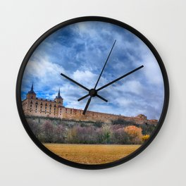 Ducal palace at Lerma, Castile and Leon. Spain. Wall Clock