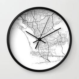Minimal City Maps - Map Of Chula Vista, California, United States Wall Clock