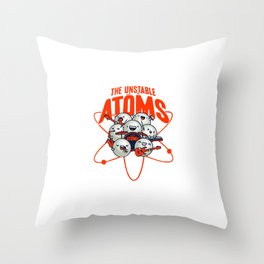 The Unstable Atoms Throw Pillow