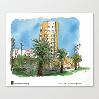 "casablanca Canvas Prints featuring Swasky ""Casablanca"" by Urban Sketchers"