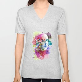 Rae in Watercolors Unisex V-Neck