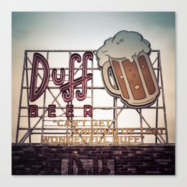 Duff Beer Neon Sign Canvas Print