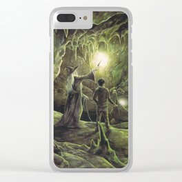 Harry and Dumbledore in the Horcrux Cave Clear iPhone Case