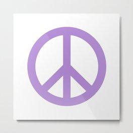 Peace (Lavender & White) Metal Print