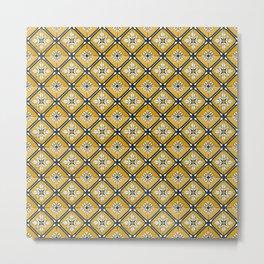 Floor Series: Peranakan Tiles 80 Metal Print
