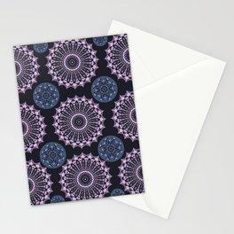Purple and Blue Mandala Design Stationery Cards