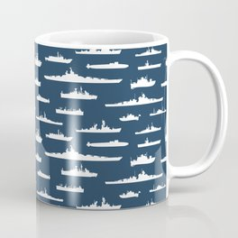 Battleship // Navy Blue Coffee Mug