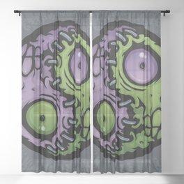 Zombie Yin-Yang Sheer Curtain