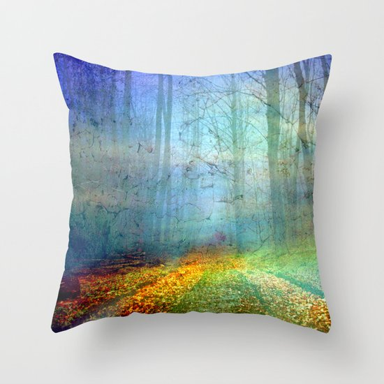 Forêt enchantée Throw Pillow