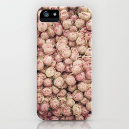 Flower Market 1 - Pink Roses  iPhone Case