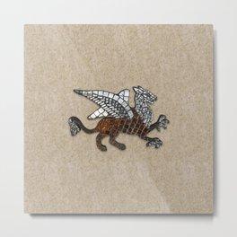 Mosaic Griffin Metal Print