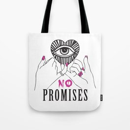 All Seeing Eye No Promises Trend Print Tote Bag