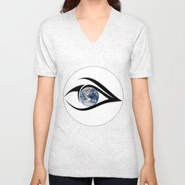 The planet on which we live can see everything Unisex V-Neck