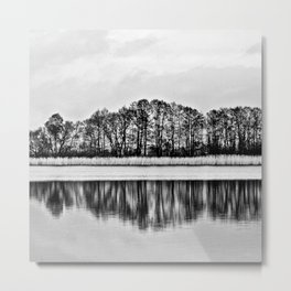 White Symphony of Winter Lake Metal Print