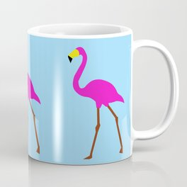 Flamingo in blue Coffee Mug