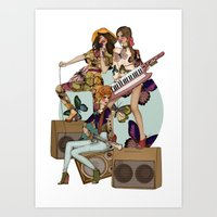 almost famous Art Prints featuring ALMOST FAMOUS by annabours