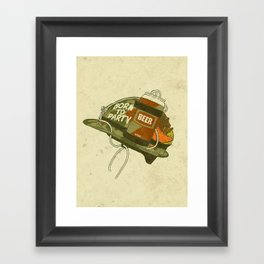 Born to party Framed Art Print