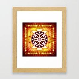 Sri Yantra II.III Framed Art Print