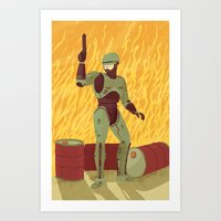 robocop Art Prints featuring Robocop by James White