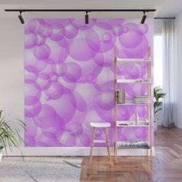 Purple Bubbles Wall Mural