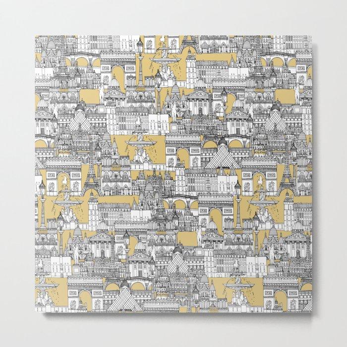 Paris toile gold Metal Print