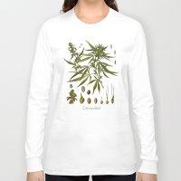 cannabis Long Sleeve T-shirts featuring Cannabis by jbjart