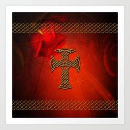 Wonderful celtic cross Art Print