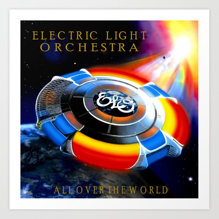 Elo Album Cover Art Print By Scooby172 Society6