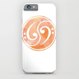 Bass Clef Gift Musician iPhone Case
