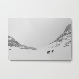 B&W Valley of the Arenas  Metal Print