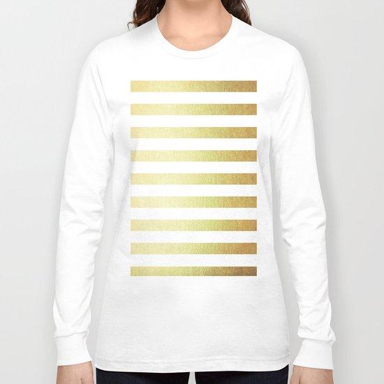 Simply Striped 24K Gold Long Sleeve T-shirt