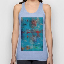 Aztec Turquoise Stone Abstract Texture Design Art Unisex Tank Top