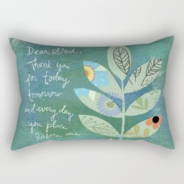 Thank you God (Leaf art) Rectangular Pillow