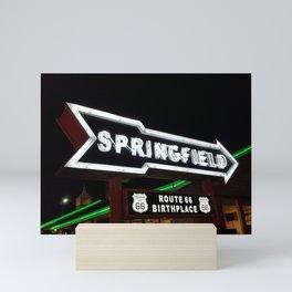 Route 66 Neon Birthplace Mini Art Print