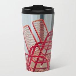 Red Chairs Metal Travel Mug