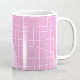 Simple Grid Pattern in Pink Lavender Coffee Mug