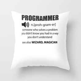 Code programmers Dictionary developers Gift Throw Pillow