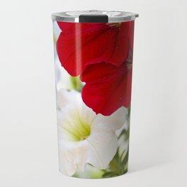 Antique Petunia Flowers Travel Mug